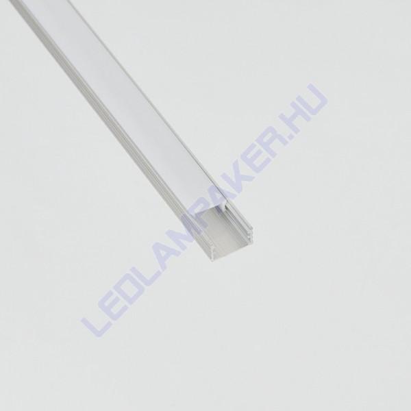 Alumínium Profil Led Szalagokhoz, Opál Búrával 2 Méter