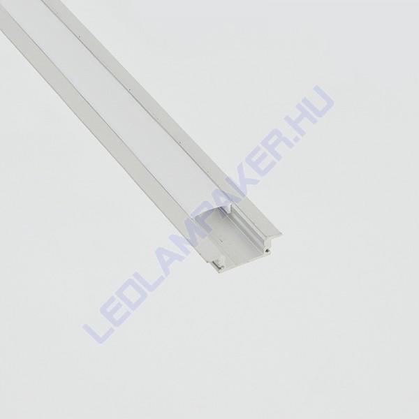 Alumínium Profil Led Szalagokhoz, Opál Búrával, Süllyeszthető, 2 Méter