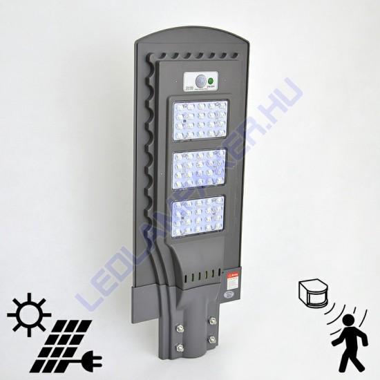 Napelemes Led kandeláber Lámpa, Akkumulátoros, Mozgásérzékelős, 2400 Lm, Kültéri, 2 Év Garancia