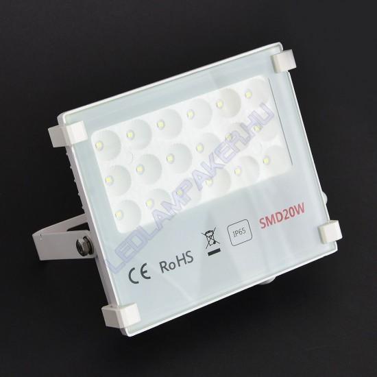 Led Reflektor 20W, Slim, 2000 Lumen, 6500 Kelvin Hideg Fehér, IP65, Kültéri, SMD LED, 2 Év Garancia