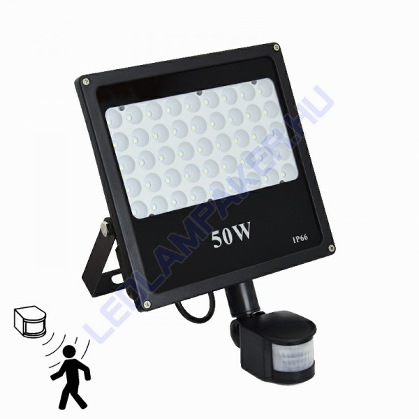 Led Reflektor Mozgásérzékelővel 50W, Special, 4500 Lumen, Hideg Fehér, Kültéri, SMD LED, 2 Év Garancia