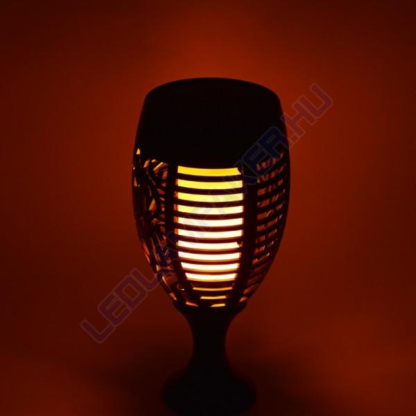 Napelemes, Akkumulátoros, Alkonykapcsolós, Fali és Leszúrható Fákja Lámpa, Tűz Effektes, Kültéri, 2 Év Garancia