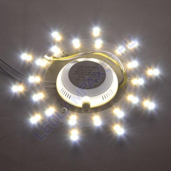 Ledes UFO Lámpabetét Mágneses, 2x12w, 2x960lm, Változtatható Színhőmérséklet, 2 Év Garancia