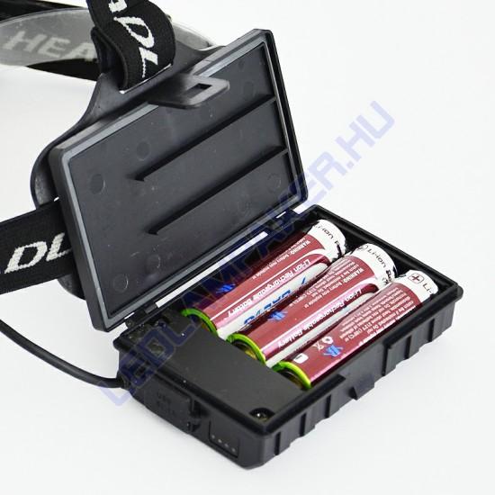CREE Led Fejlámpa, Akkumulátoros, XHP-50, Ultra Nagy Fényerő, Zoom, Powerbank, IP65, 2 Év Garancia