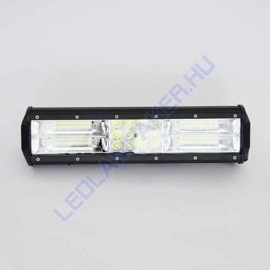 Led fényhíd, 30cm, 180w, 10-30v, IP67, kombinált fénysugár
