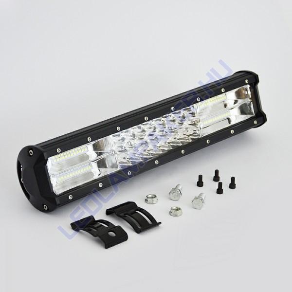 Led fényhíd, 38cm, 216w, 10-30v, IP67, kombinált fénysugár
