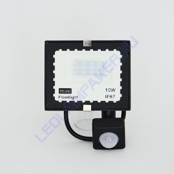 Led Reflektor Mozgásérzékelős, Mini, Hideg Fehér, Kültéri, SMD LED, 2 Év Garancia