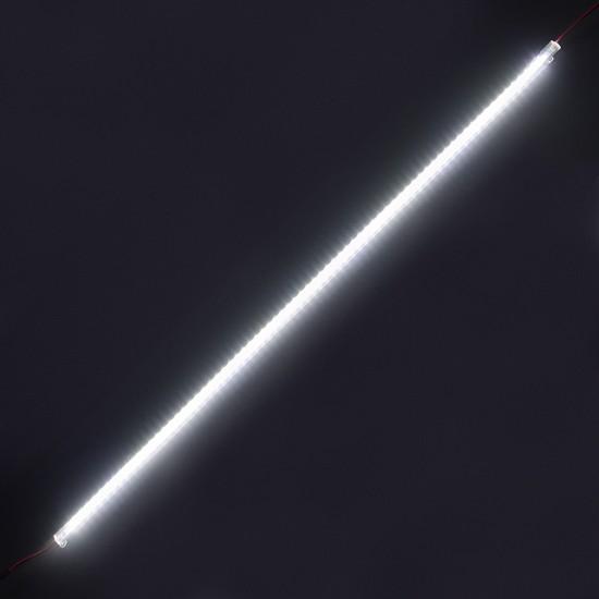 LED Csík, Műanyag Profilban, Szerelőakna, Kirakat, Pult, Rejtett Világítás, Sorolható, 100cm, IP20, Hideg Fehér, 2 Év Garancia