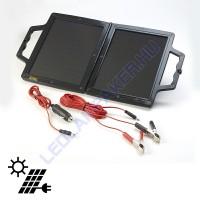 Napelemes Töltő 12V-os Akkumulátorokhoz 4W, Összecsukható