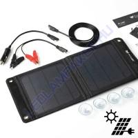 Napelemes Töltő 12V-os Akkumulátorokhoz 8W, 600ma, Összecsukható